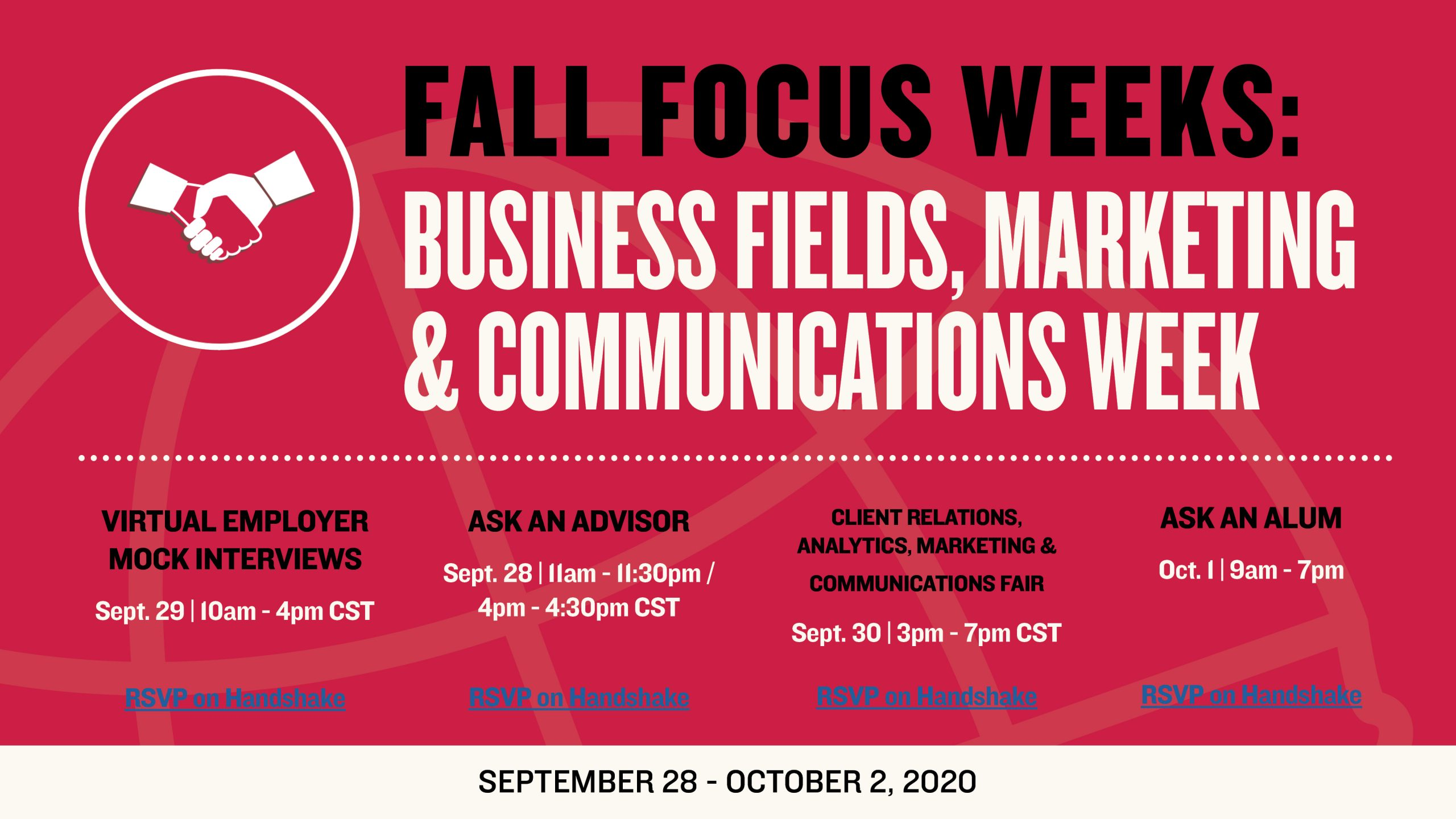 Business, Marketing and Communications Week